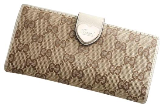 Gucci GUCCI Heart G-G Monogram Long Bifold Wallet Image 0