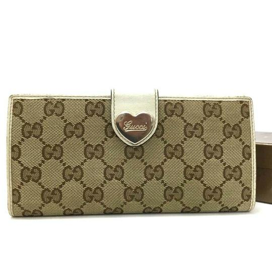 Gucci GUCCI Heart G-G Monogram Long Bifold Wallet Image 1