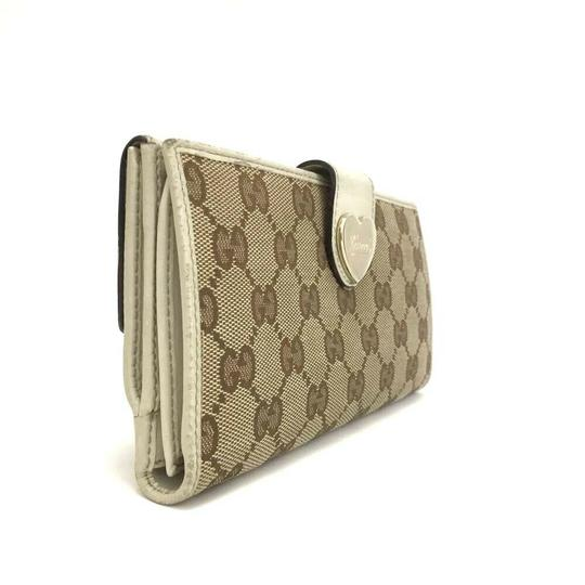 Gucci GUCCI Heart G-G Monogram Long Bifold Wallet Image 3
