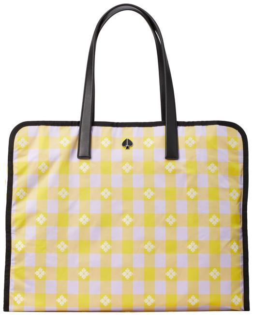 Item - XL Morley Pxrua237 Frozen Lilac/Chartreuse Yellow Plaid Nylon Tote
