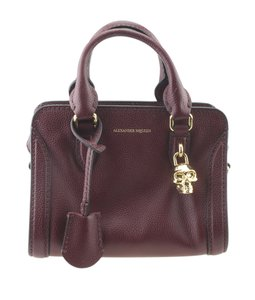 Alexander McQueen Leather Satchel in Burgundy