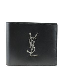 Saint Laurent Yves Saint Laurent 453276 East West Black Bi-Fold Wallet (172574)