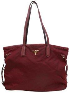 Prada Neverfull Roll Shopper Tessuto Forever Tote in Bordeaux