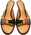 Louis Vuitton BLACK BACKGROUND WITH MULTI-COLOR ACCENTS Mules Image 0