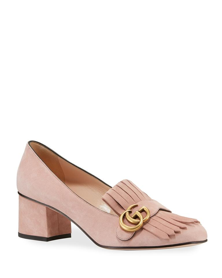 89567b620 Gucci Pink Marmont Gg Suede Block Pumps Size EU 39.5 (Approx. US 9.5 ...
