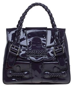 Valentino Patent Leather Satchel in Purple