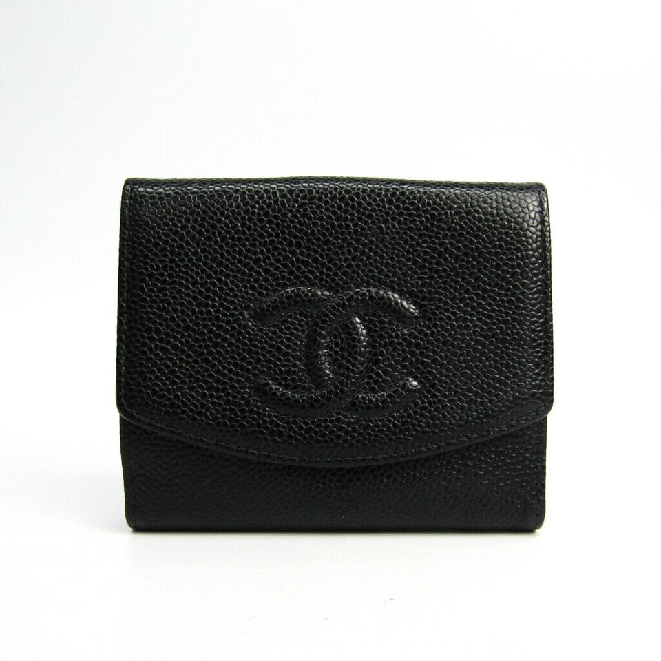 ecaf3bbe548 Chanel Chanel Black Caviar Leather CC Compact Wallet Image 0 ...