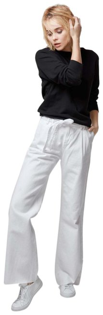 Item - White Light Wash The Waist Pant Trouser/Wide Leg Jeans Size 25 (2, XS)