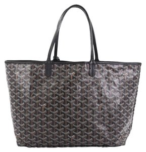 Goyard Canvas Tote in brown and white