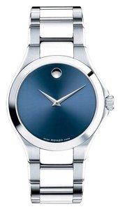 Movado Defio Stainless Steel Sapphire Blue Dial 0607311