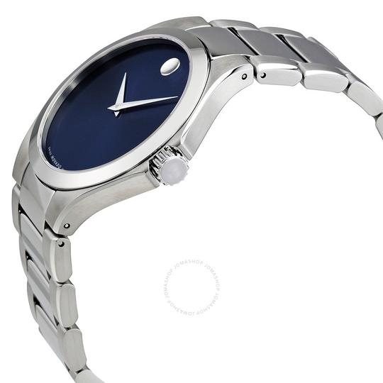 Movado Defio Stainless Steel Sapphire Blue Dial 0607311 Image 6