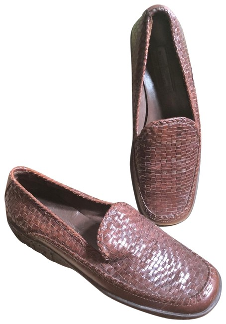 Item - Black/Brown 8.5-cole Country Woven Leather/Black Traction Soles Slip-on Loafers Flats Size US 8.5 Regular (M, B)