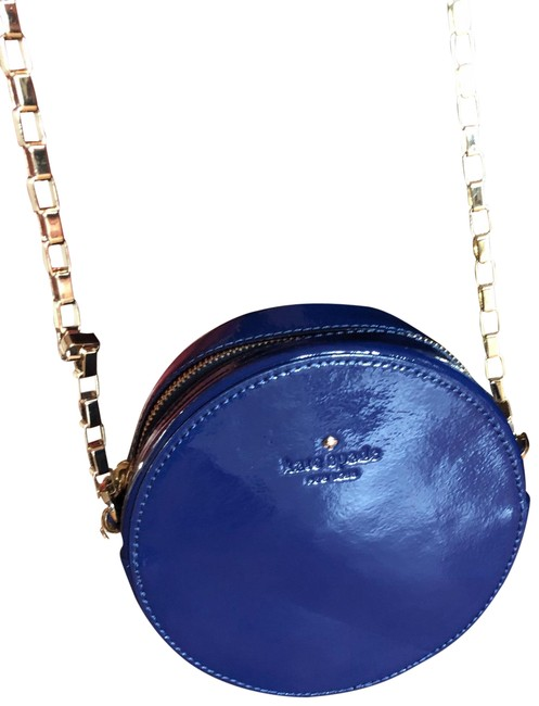 "Item - ""get Out Of Town Dot"" Limited Edition Purse Blue Patent Leather Cross Body Bag"