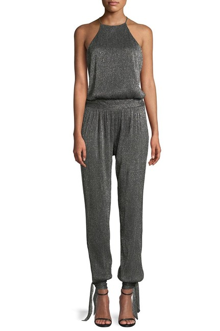 Item - Gray Metallic Heritage Halter Top New 4 Romper/Jumpsuit