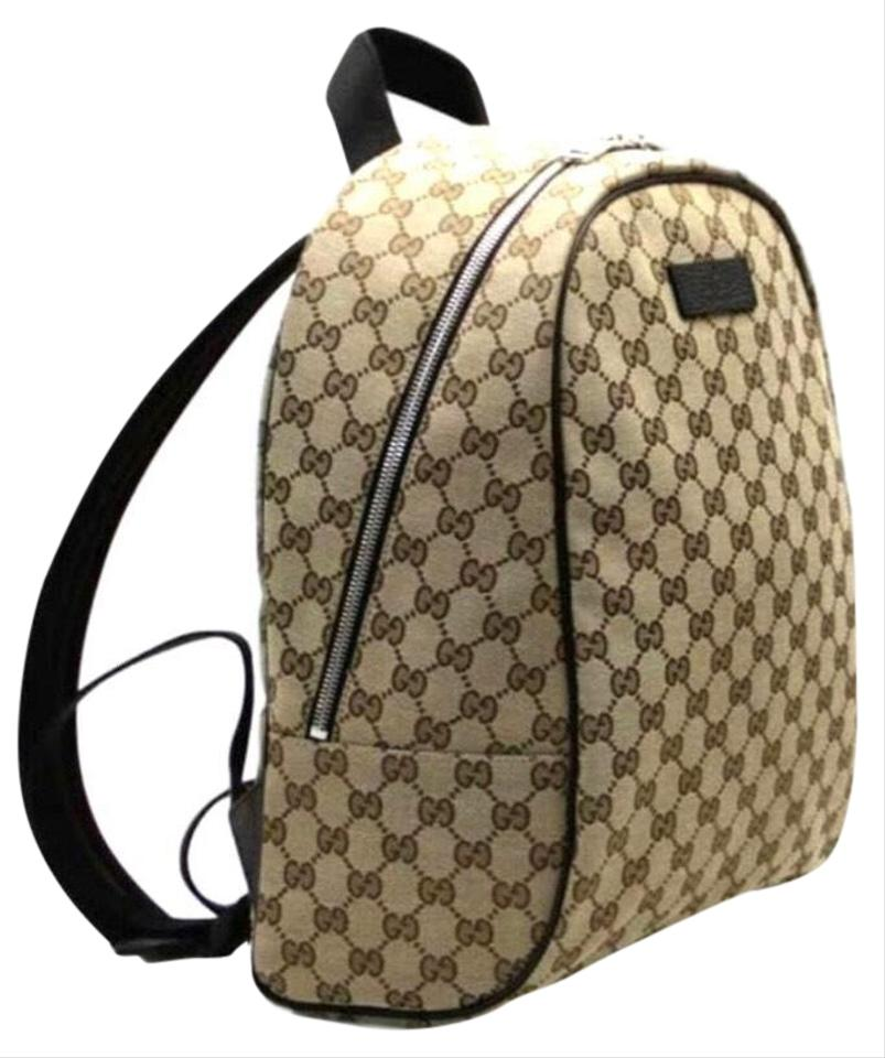 47e68a850 Gucci New 449906 Gg Guccissima Rucksack Beige/Brown Canvas Backpack ...