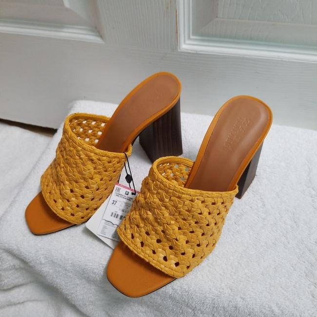 Zara Yellow Special Edition (3614) Mules/Slides Size US 6.5 Regular (M, B) Zara Yellow Special Edition (3614) Mules/Slides Size US 6.5 Regular (M, B) Image 5