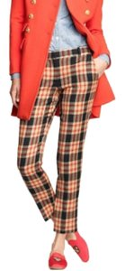 J.Crew Plaid Wool Cafe Capri Trouser Pants Red Navy