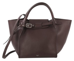 Céline Calfskin Small Satchel in purple