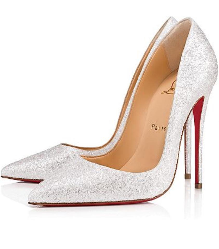 Louboutin Wedding Shoes.Christian Louboutin White Glitter New So Kate 120 Givre Pumps Size Eu 39 5 Approx Us 9 5 Regular M B