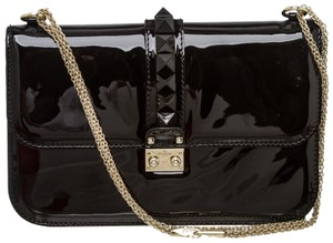 Valentino Patent Leather Rockstuds Shoulder Bag