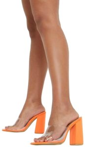 prettylittlething Orange Mules