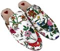 Gucci Floral Princetown Loafers White Multi Flats