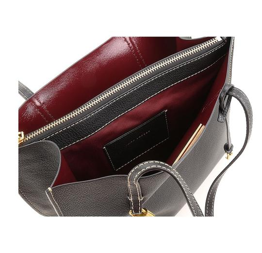 Marc Jacobs Luxury Fashion Handbags Leather Tote in Black Image 1