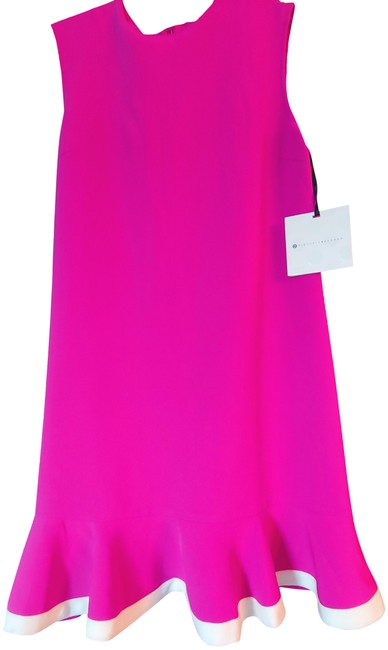 Preload https://img-static.tradesy.com/item/25533025/victoria-beckham-fuschia-w-white-trim-fit-and-flare-short-casual-dress-size-10-m-0-1-650-650.jpg