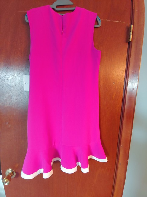 Victoria Beckham short dress Fuschia w/ white trim on Tradesy Image 2