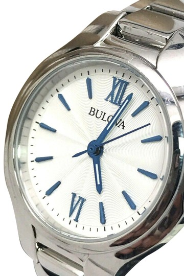 Preload https://img-static.tradesy.com/item/25533031/bulova-silver-96l215-white-and-blue-dial-tone-ladies-watch-0-1-540-540.jpg