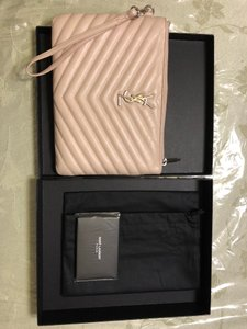 Saint Laurent Wristlet in Pink