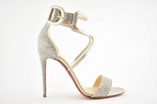 Christian Louboutin Stiletto Classic Choca Crisscross Strap Ankle Strap Colombe Pumps Image 1
