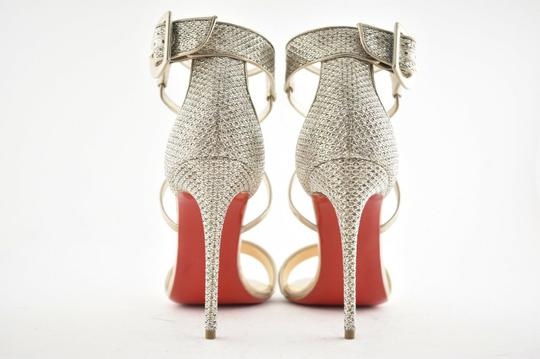 Christian Louboutin Stiletto Classic Choca Crisscross Strap Ankle Strap Colombe Pumps Image 10