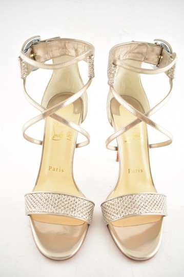 Christian Louboutin Stiletto Classic Choca Crisscross Strap Ankle Strap Colombe Pumps Image 4