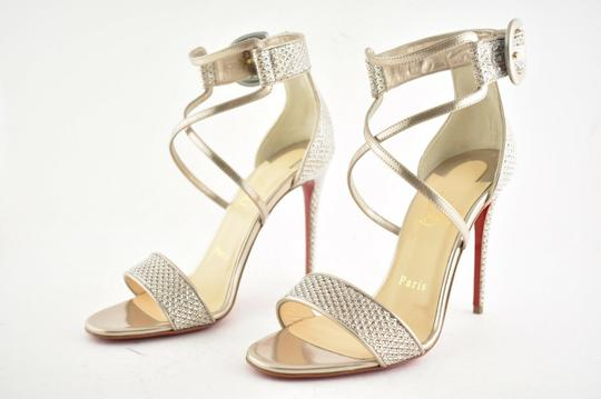 Christian Louboutin Stiletto Classic Choca Crisscross Strap Ankle Strap Colombe Pumps Image 9