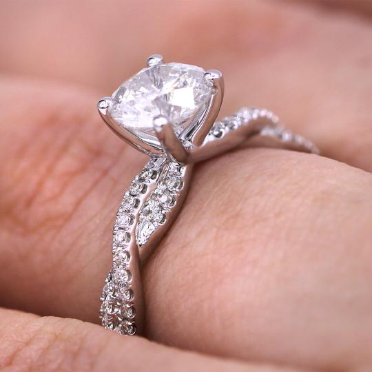 White Gold 1.29cts Fascinating Pave Twist Diamond Engagement Ring Image 3