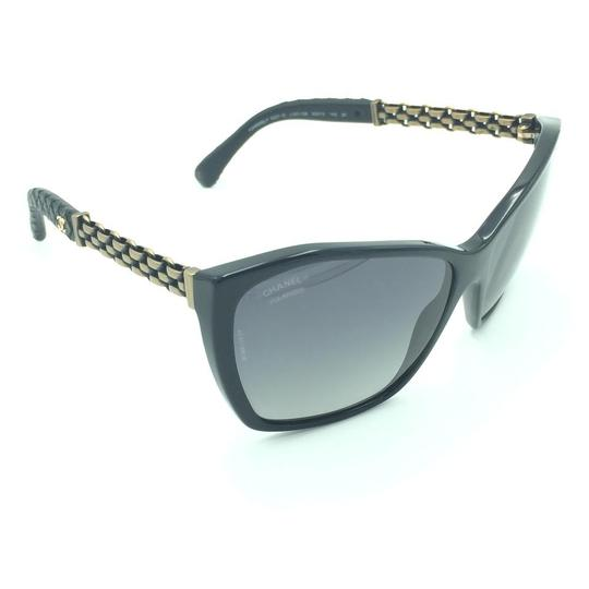 Chanel Chanel Polarized Black Chained Leather Sunglasses 5327-Q 501/S8 Image 1