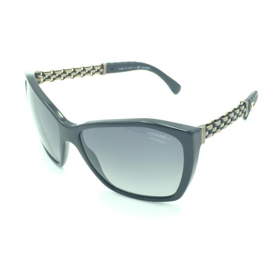 Chanel Chanel Polarized Black Chained Leather Sunglasses 5327-Q 501/S8 Image 2