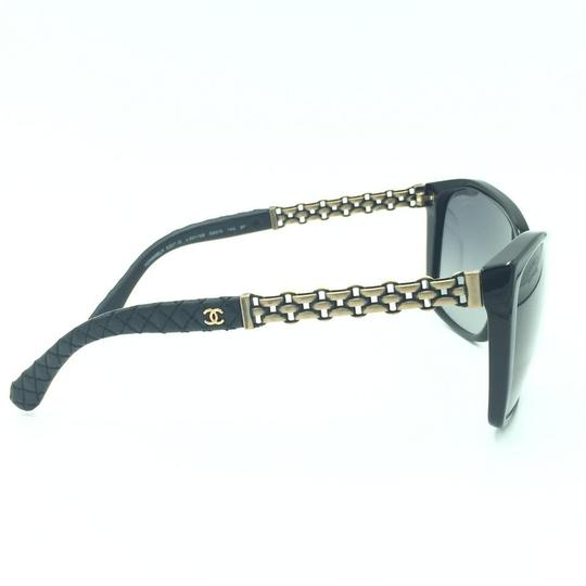Chanel Chanel Polarized Black Chained Leather Sunglasses 5327-Q 501/S8 Image 3