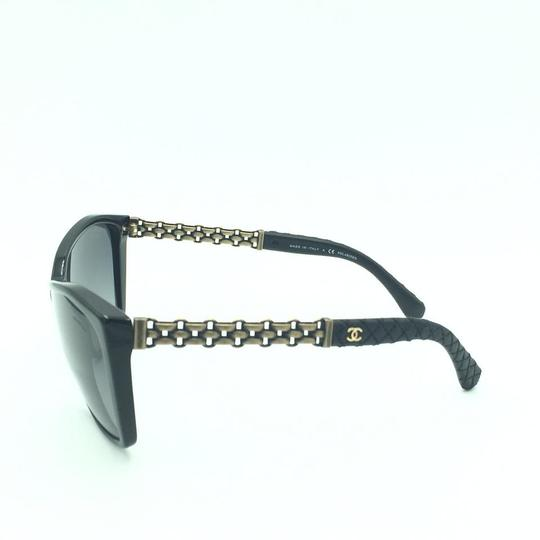 Chanel Chanel Polarized Black Chained Leather Sunglasses 5327-Q 501/S8 Image 5