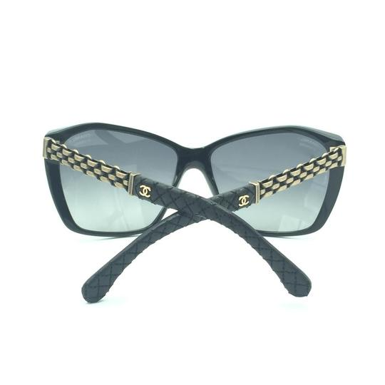 Chanel Chanel Polarized Black Chained Leather Sunglasses 5327-Q 501/S8 Image 7