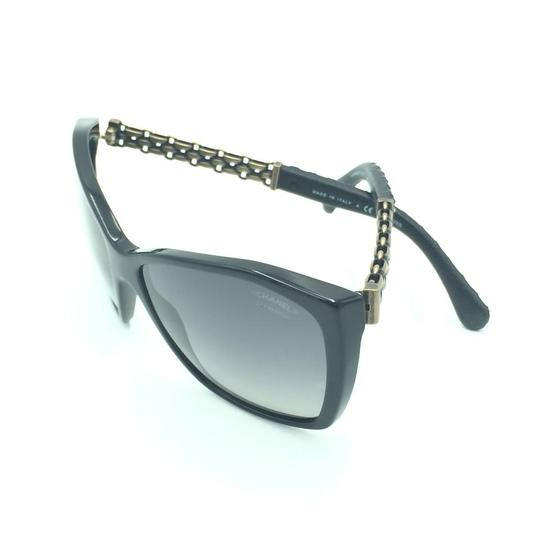 Chanel Chanel Polarized Black Chained Leather Sunglasses 5327-Q 501/S8 Image 8