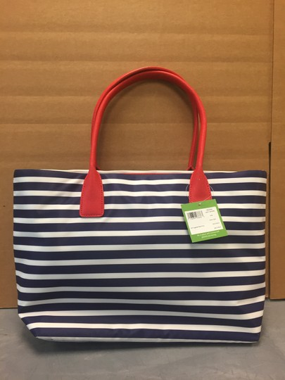 Kate Spade Catie Catie Handles Stripes Tote in Red navy white Image 1