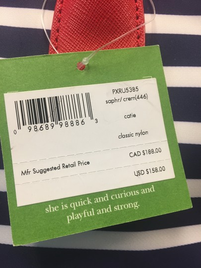 Kate Spade Catie Catie Handles Stripes Tote in Red navy white Image 4