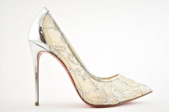 Christian Louboutin Pigalle Follies Stiletto Glitter Classic silver Pumps Image 1