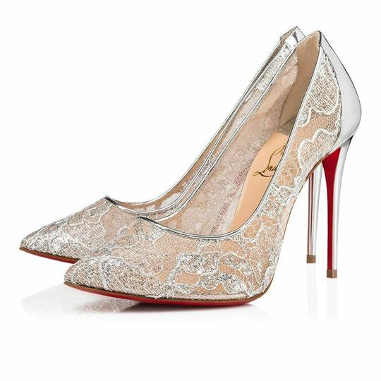 Christian Louboutin Pigalle Follies Stiletto Glitter Classic silver Pumps Image 2