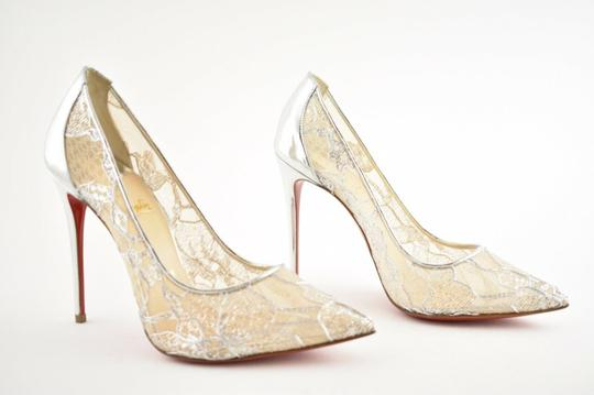 Christian Louboutin Pigalle Follies Stiletto Glitter Classic silver Pumps Image 4