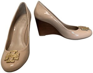 Tory Burch Patent Nude Wedges