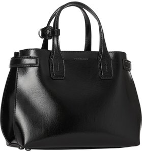 7c2afcf62f2 Burberry Banner Glossy Crossbody Tote in Black