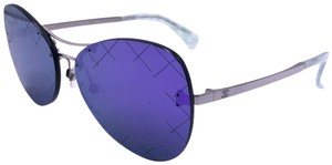 Chanel Chanel Purple Mirror RUNWAY Quilting Sunglasses 4218 c.124/4V